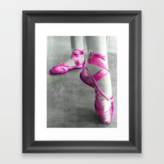 Ballet Shoe Pink Framed Art Print