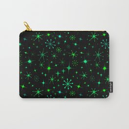 Atomic Starry Night in Neon Green Glow + Black Carry-All Pouch