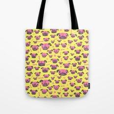 Pug Life  - Yellow and pink Tote Bag