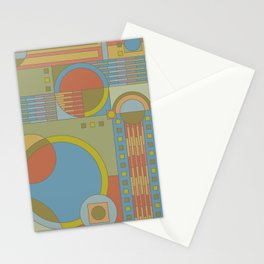 art and crafts circles Stationery Cards
