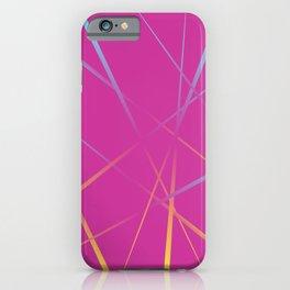 Laser Light Show - Pink iPhone Case