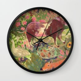 cottage party Wall Clock