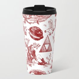 "Zelda ""Hero of Time"" Toile Pattern - Goron's Ruby Travel Mug"