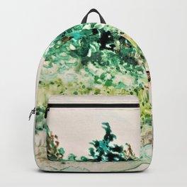 Back Yard HF1 Watercolor Monoprint Backpack