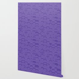 Ultra Violet Color of the Year 2018 Seigaiha seigainami wave of the sea abstract scales Wallpaper
