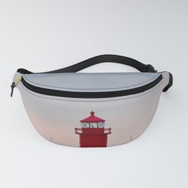 Red Lighthouse on Lake Michigan Fanny Pack