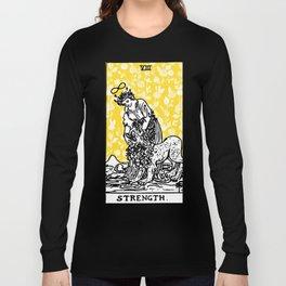 Floral Tarot Print - Strength Long Sleeve T-shirt