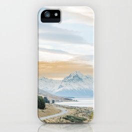 Mount Cook sunset iPhone Case