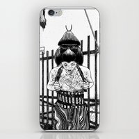 apollonia iPhone & iPod Skins featuring asc 589 - La maison close (No trespassing) by From Apollonia with Love