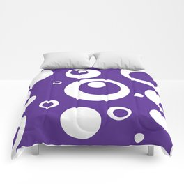 Circles Dots Bubbles :: Grape Juice Comforters