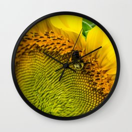 1493 - Sunflower Bumble Wall Clock