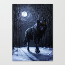 Encounter in the night Canvas Print
