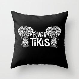 Power to the Tikis Throw Pillow