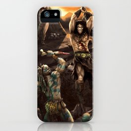 Barbarian battle iPhone Case