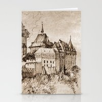castle Stationery Cards featuring Castle by Bunny Noir
