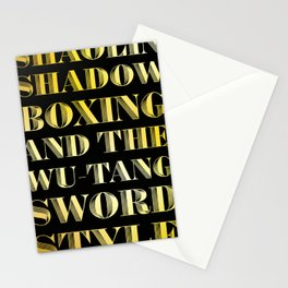Shaolin Shadowboxing and the Wu Tang Sword Style Stationery Cards