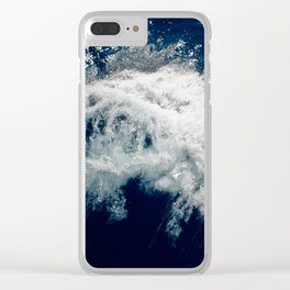 LAKE HURON WAVE Clear iPhone Case