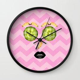 Fruit pelling Wall Clock