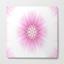 Sweet Pastel Pink Flower Metal Print