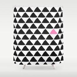 Black triangles & a weird one. Shower Curtain