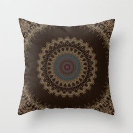 Sequential Baseline Mandala 26 Throw Pillow