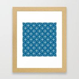 Crossing Circles - Midnight Framed Art Print