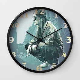 Falco on the Street Wall Clock