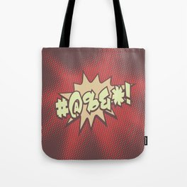 Mild profanity RETRO RED / Cartoonish anger Tote Bag