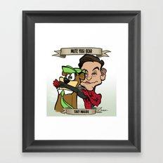 Mute Yogi Bear (Tobey Maguire) Framed Art Print