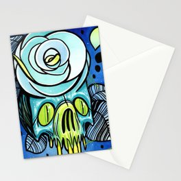 Skull Rose Stationery Cards