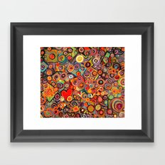 Abstract with squares Framed Art Print