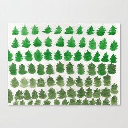 Gradient Trees Canvas Print