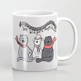 Christmas Singing Cats We Wish You A Meowy Christmas Coffee Mug