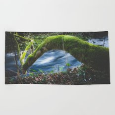 Enchanted magical forest Beach Towel