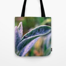 fly on Stachys leaf Photography - Nature - Garden - Plant  Tote Bag