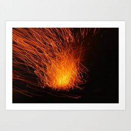 Golden Firework Art Print