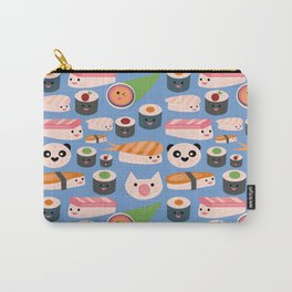 Kawaii sushi blue Carry-All Pouch