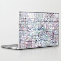 las vegas Laptop & iPad Skins featuring Las Vegas map by MapMapMaps.Watercolors