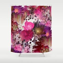 Flower Garden in Pinks Shower Curtain