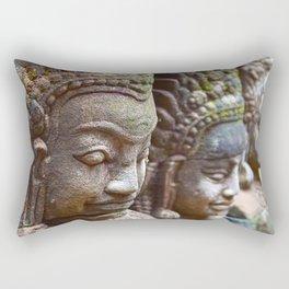 Apsara Carvings Rectangular Pillow