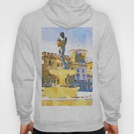 L'Aquila: fountain with monument Hoody