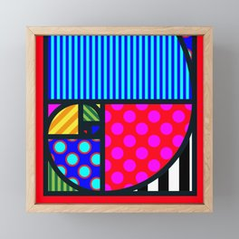 Fibo PoP-Art SQuare Framed Mini Art Print