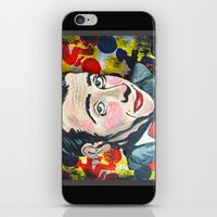 pee wee iPhone & iPod Skins featuring Pee Wee by Portraits on the Periphery