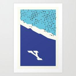 Y Mountain Art Print