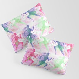 Watercolor women runner pattern Pillow Sham