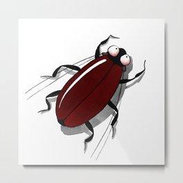 Bug me in red. Metal Print