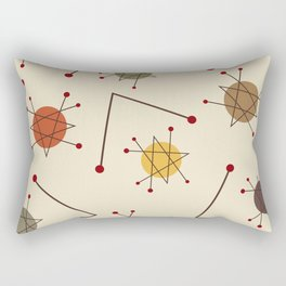 Atomic Era Autumn Rectangular Pillow
