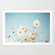 Garden of flowers. Art Print