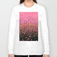 sparkles Long Sleeve T-shirts featuring  Sparkles and Glitter Pink by Saundra Myles