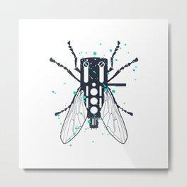 Cartridgebug of Mixing on Turntable Metal Print